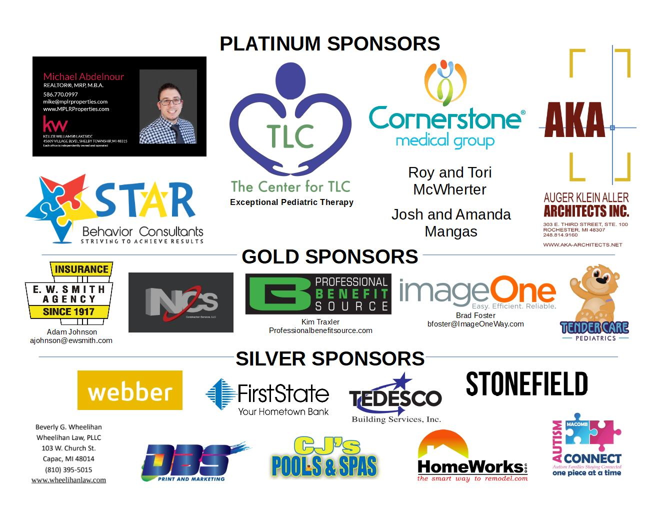 2020 Bowling from the Heart Fundraiser Sponsors